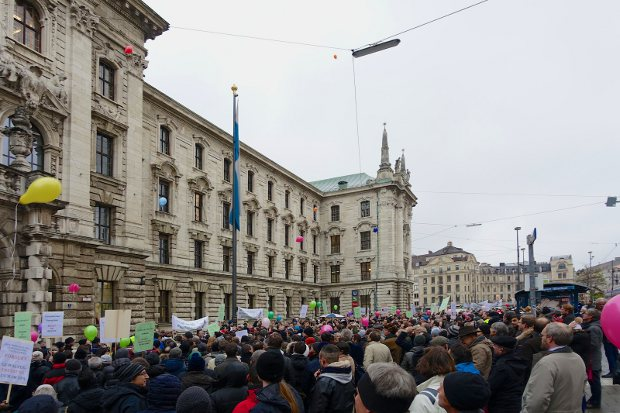EPO demonstrations attract 'close to 2,000'
