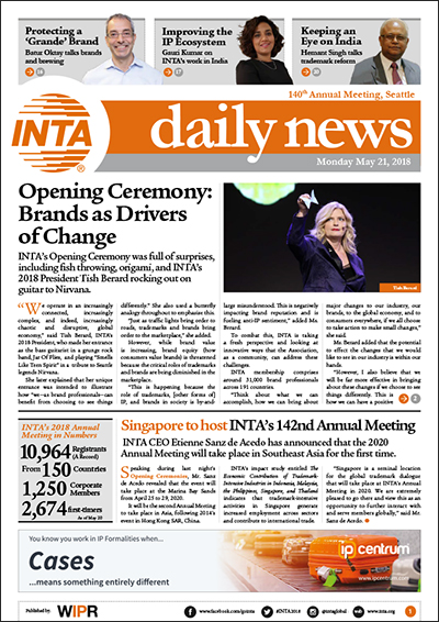INTA Daily News Day 3 Monday 2018